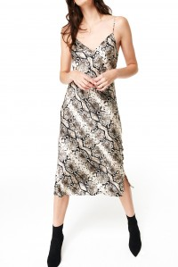 The Raven Slip Dress Python