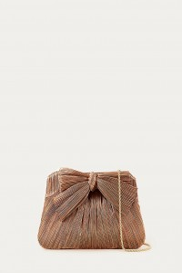 Rayne Clutch with Bow Dark Rose Gold