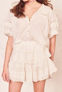 Ruffle Mini Skirt Ivory