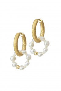 Ring of Pearls Hoop Earrings