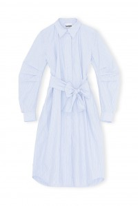 Brunnera Blue Stripe Cotton Dress