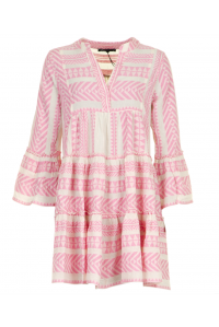 Bell Sleeve Beach Dress Soft Pink