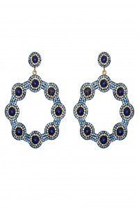 Majolica Lapis Hoop Earrings