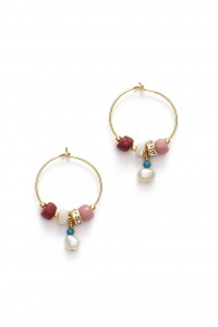 Sun Dance Hoop Earrings Very Berry