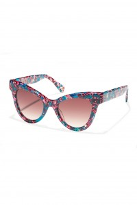 Uptown Cat eye Round Sunglasses Flamingo Pink