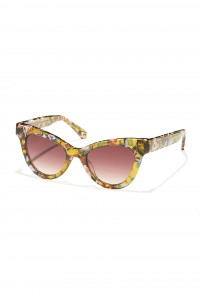 Uptown Cat Eye Sunglasses Amber Confetti