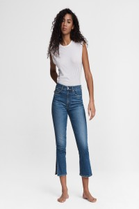 Nina High Rise Ankle Flare with Slits