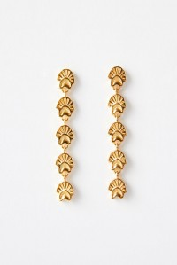 Amulet of the Sun Earrings Yellow Gold