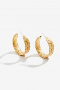 Anchovy Hoop Earrings Gold
