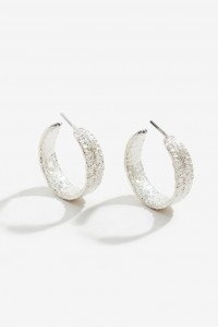 Anchovy Hoop Earrings Silver