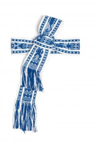 Handwoven Belt Blue and White