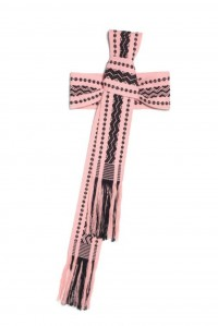 Hand Woven Candy Pink and Black