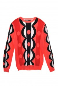 Abstract Scalloped Sweater