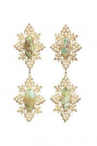 Cleon Earrings Gold and Turquoise