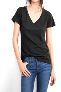 Lilith V Neck Tee Black