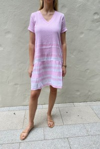 Dress 2 V Short Sleeve Bubble