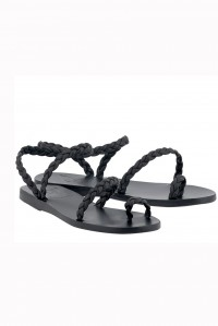 Eleftheria Braided Sandal Black