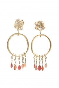 Mini Bloom Hoop and Gem Earrings