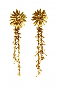 Flower and Chain Earrings