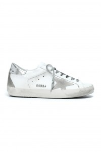Sneakers Superstar White Silver Metal Lettering