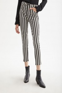 High Rise Skinny Jean Stripe