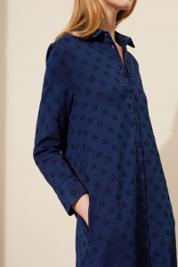 Indigo Star Shirt Dress