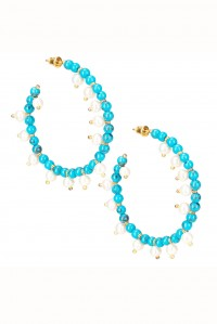Mini Ava Hoops Turqoise