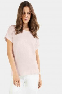 Short Sleeve Boxy Tee Pale Pink