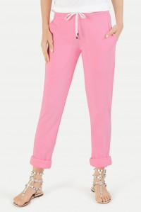 Turn up Sweatpants Neon Pink