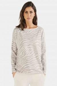 Light Zebra Fleece Sweat Top