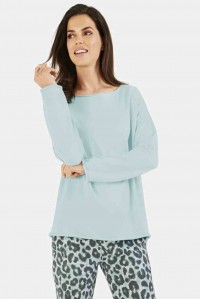 Turqoise Fleece Sweat Top