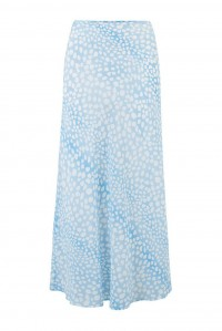 Kelly Skirt Ombre Blue Leopard