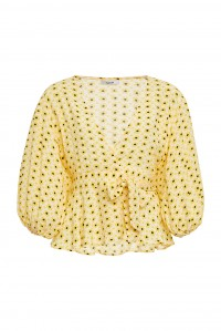 Maize Wrap Blouse