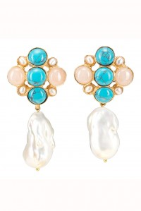 Margot Earrings Turqoise