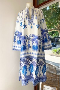 Malika Short Kaftan Winter Garden