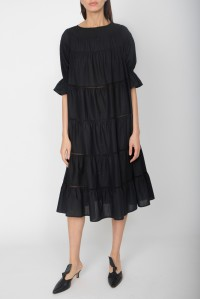 Paradis Cotton Dress Black