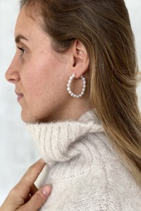 Flora Small Pearl Earrings