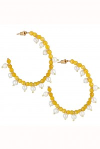 Mini Ava Hoops Yellow