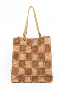 Honu Mix Raffia Bag Beige