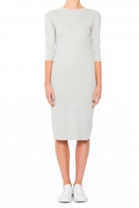 Persia 3/4 Sleeve Dress Grey Marle