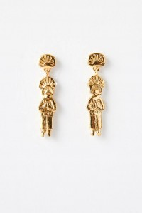 Pyramid of the Sun Earrings Yellow Gold