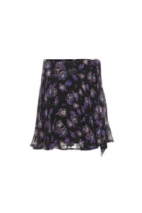 Georgette Wrap Tie Skirt