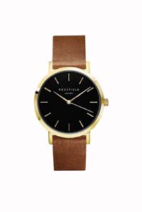 The Gramercy Watch Black / Tan / Gold