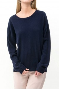 Astrid Pure Cashmere Sweater Navy