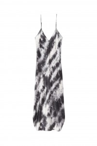 Short Cami Dress Gunmetal Tie Dye