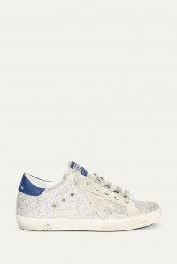 Superstar Silver Glitter Blue