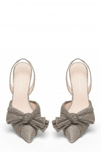 Sylvana Pleated knot Slingback Pump