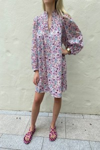 Virginie Dress Ecru Floral