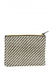Flat Clutch Zig Zag Leather